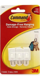 Command Damage-Free Hanging Utility Hook 300g 3Pk