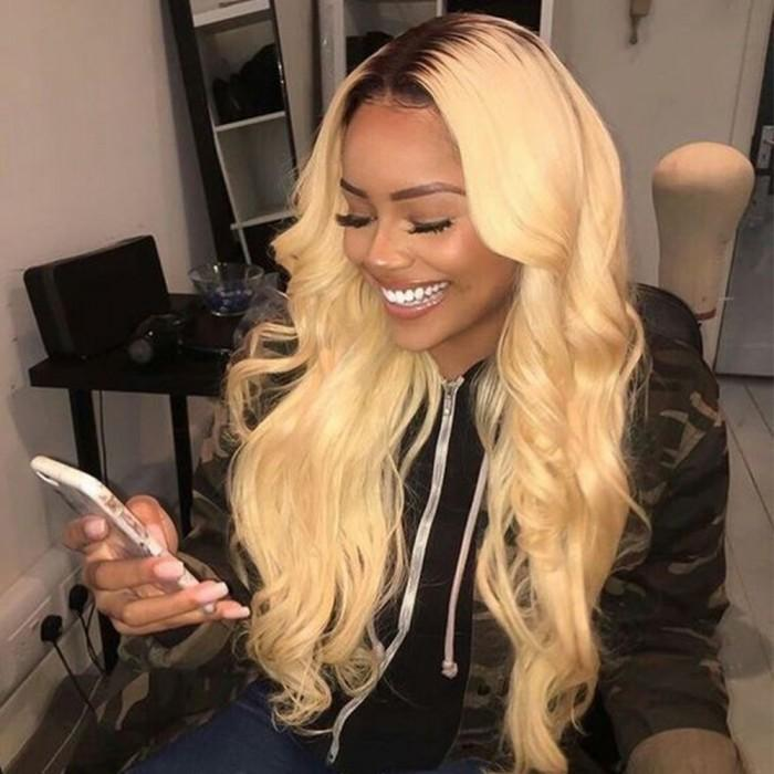 Body Wavy #1b #613 Swiss Lace Frontal