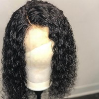 "Pre-Plucked 13""x4"" Frontal Deep Curly Bob Wigs"