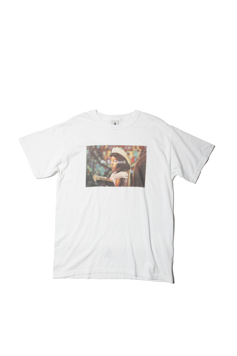 TEE - GO TO CHURCH  | WHITE