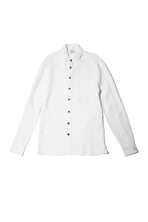LINEN BUTTON DOWN | WHITE
