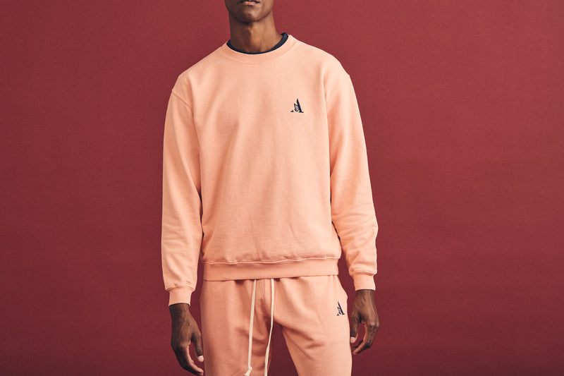 CREWNECK SWEATSHIRT | PEACH