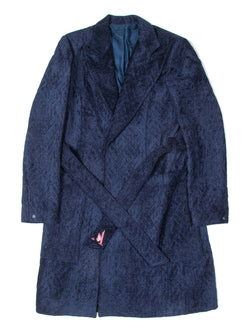 PLUSH QUILTED OVERCOAT | NAVY