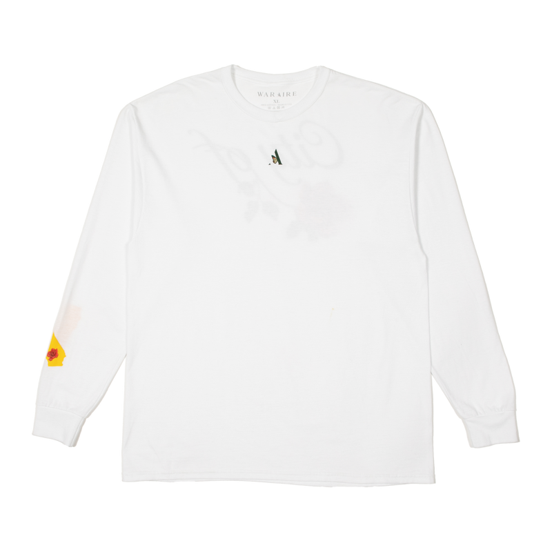 LONG SLEEVE TEE - CITY OF ROSES | WHITE