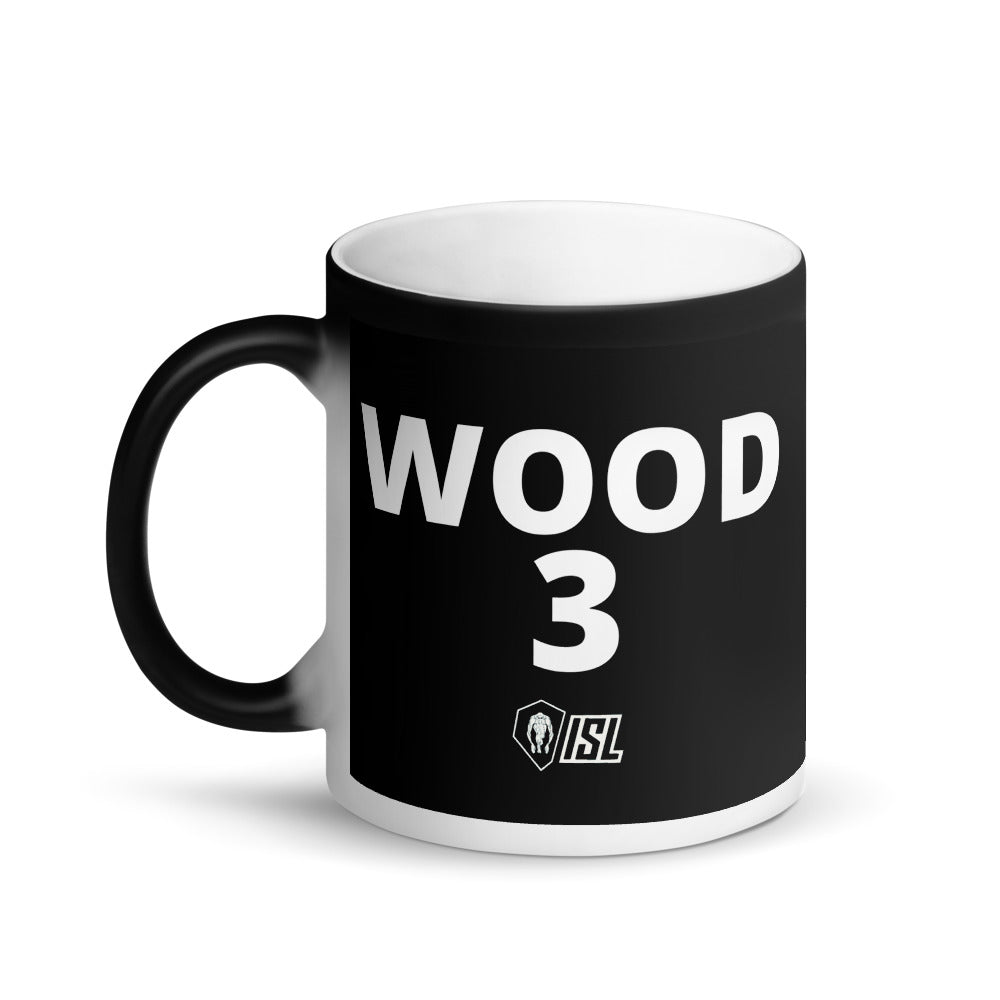 Matte Black Magic Mug, #3, WOOD