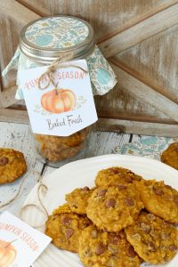 These delicious pumpkin chocolate chip cookies are so moist and chewy! They're the perfect taste of fall and will soon be a seasonal favorite!