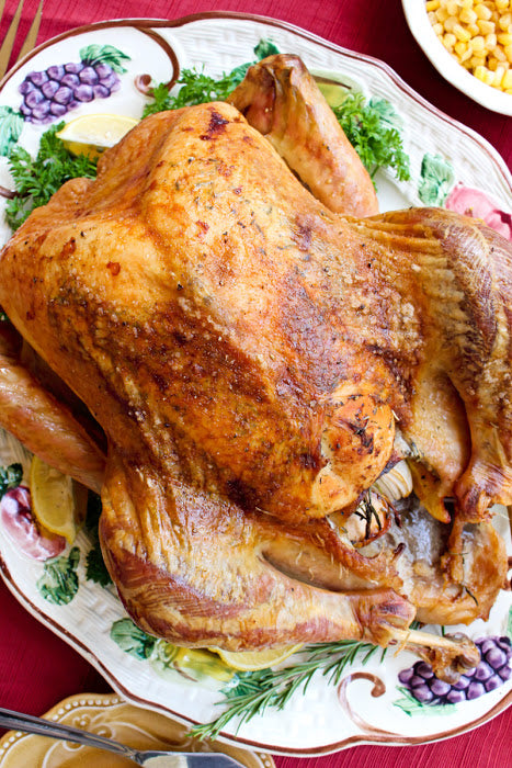 This Easy Oven Roasted Turkey recipe makes the best juicy, tender, golden brown turkey that is perfect for the holidays.  You will want to use this recipe year after year!