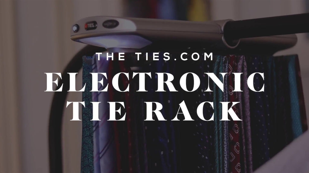 The Electronic Tie Rack from Ties.com is poetry in motion