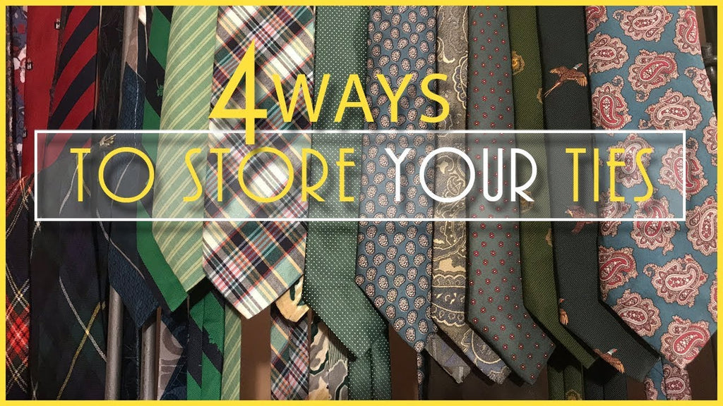 In this video I talk about tie storage and show you four ways to store your ties