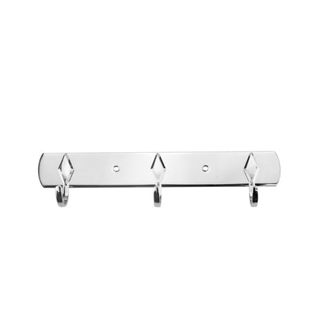 "8"" Coat Rail Rack For Home & Kitchen , Stainless Steel Wall Mounted Hanger With 3 Hook , Easy To Install Coat Hooks For Hanging Cap , Hat , Belt , Key ,Towel ,Shopping Bag , Skirt ,Scarves , Jackets"