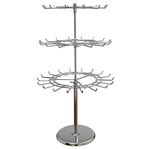 AMKO SPCT3M 3-Tier Revolving Countertop Display – Spinner Rack for Malls, Showrooms. Retail Store Fixtures and Equipment