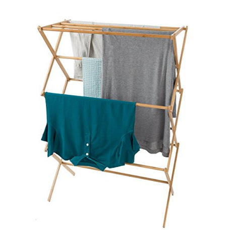 Lavish Home 83-68 Bamboo Clothes Drying Rack,