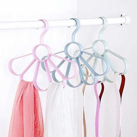 Daycount Pack of 3 Plastic Tie Belt Hanger, Tie Rack Belt Hanger Scarf Holder Hook for Closet Organizers (Random Color)