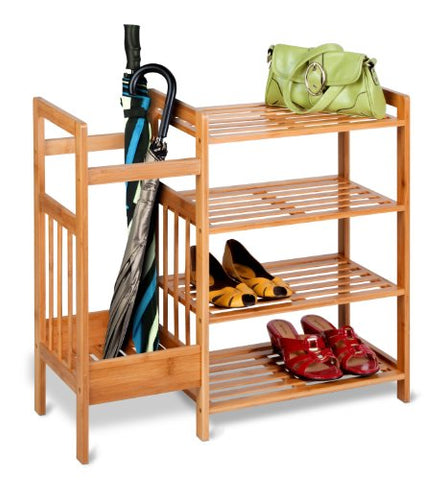 Honey-Can-Do SHO-02222 4-Tier Bamboo Entryway Organizer
