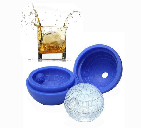 2 Pack Frozen Ice Ball Maker for Cool Drinks and Baking - Food-Grade Silicone - Round Ice Cube DIY Mould Pudding Jelly Chocolate Mold Tray Sphere