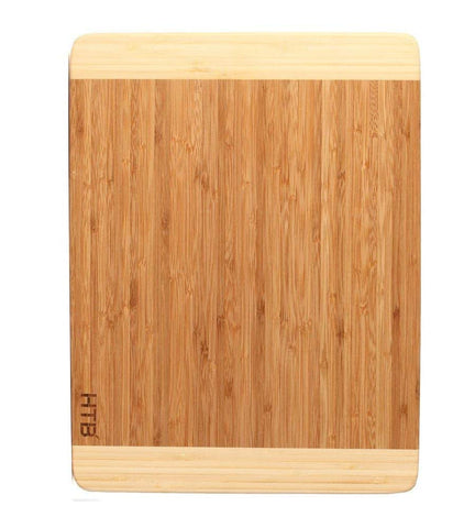 HTB 100% Bamboo Cutting Board,Thick Bamboo For Food Prep, Making Cocktails or Serving Appetizers 03L