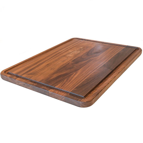 Extra Large Walnut Wood Cutting Board by Virginia Boys Kitchens - 18x24 American Hardwood Chopping and Carving Countertop Block with Juice Drip Groove