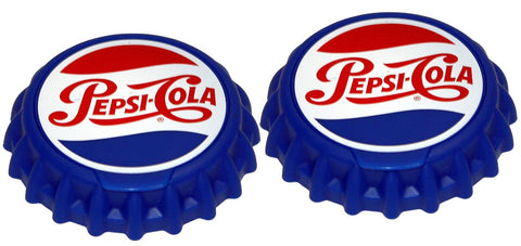 Jokari 18001P1 2 Count Pepsi Heritage Logo Snap and Sip Can Cap, Red/White/Blue