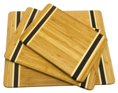 HTB 100% Bamboo Cutting Board,Thick Bamboo for Food Prep, Making Cocktails or Serving Appetizers HTB-03 PCS