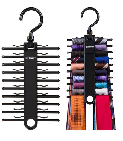 2-PACK Tenby Living Black Tie Rack, Organizer, Hanger, Holder - Affordable Ti...
