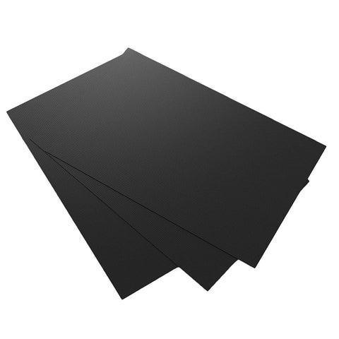 "GuteKüchen Black Multi-Purpose Teflon Sheets, Set of 3, 23"" x 16"" Heavy Duty, Heat Resistant, Non-Stick, Reusable Cooking, Baking and Grilling Mats, An All-in-One Revolutionary Kitchen Accessory."