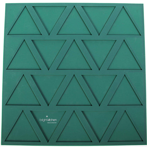 "Dehydrator Triangle Chip Mold Shape Silicone Sheet Mat for Excalibur Dehydrating 14"" x 14"" Raw Tortilla Cracker Cookie Drying Bright Kitchen Brand"