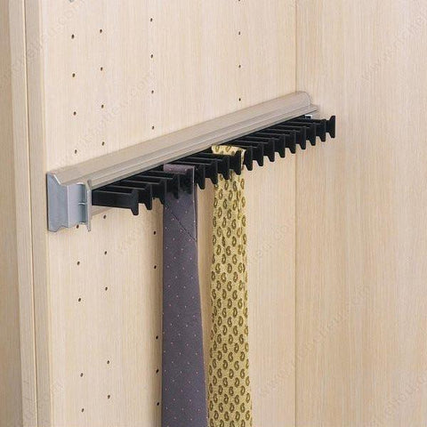 Full Extension Aluminum Tie Rack
