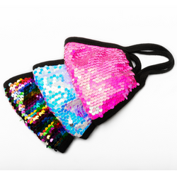 REUSABLE COTTON/SEQUIN FACE MASK BUNDLE, 3 STYLES