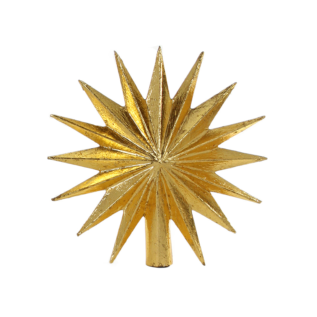 16 Point Star Gold Tree Topper, DS