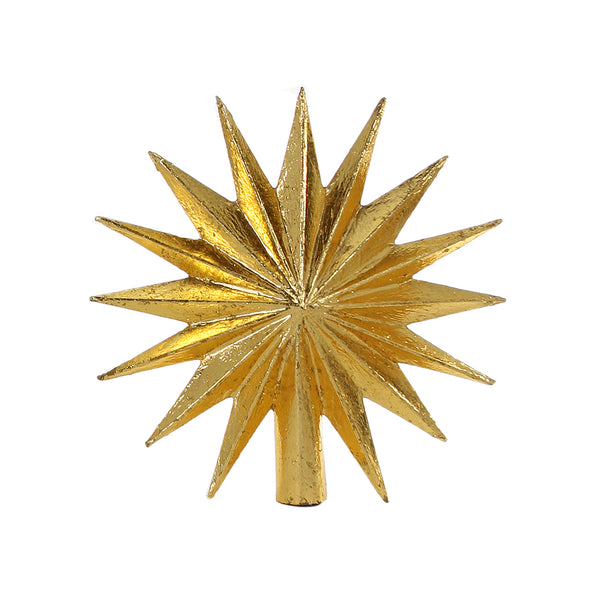 16 Point Star Gold Tree Topper