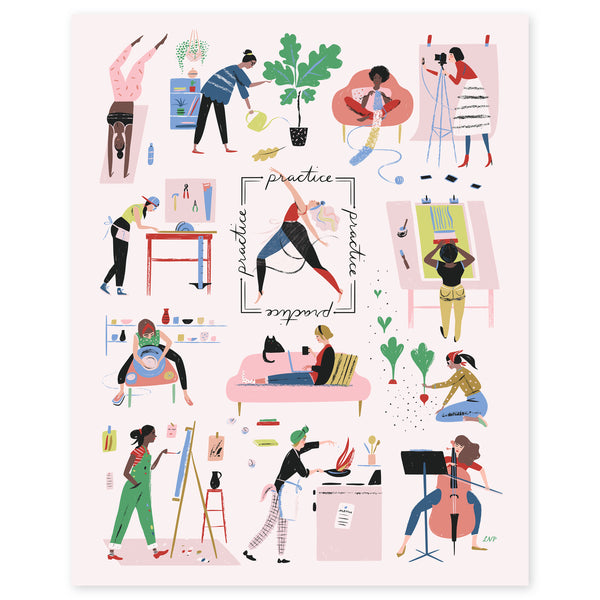 Women Who Work Print by Libby VanderPloeg