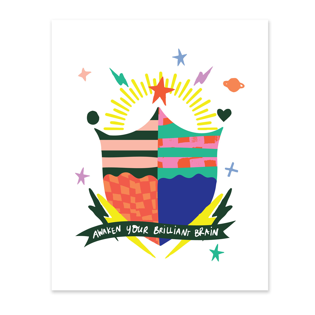 """Brilliant"" Value Crest Print by Angie Stalker"