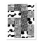 Black and White Quilt Print by Angie Stalker