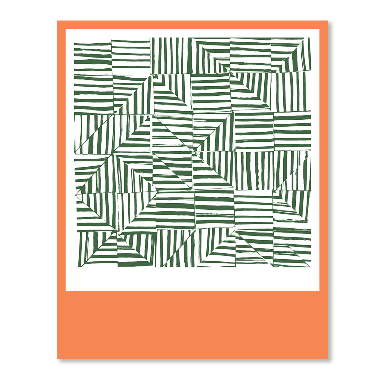 Grass Color Block Quilt Print by Angie Stalker
