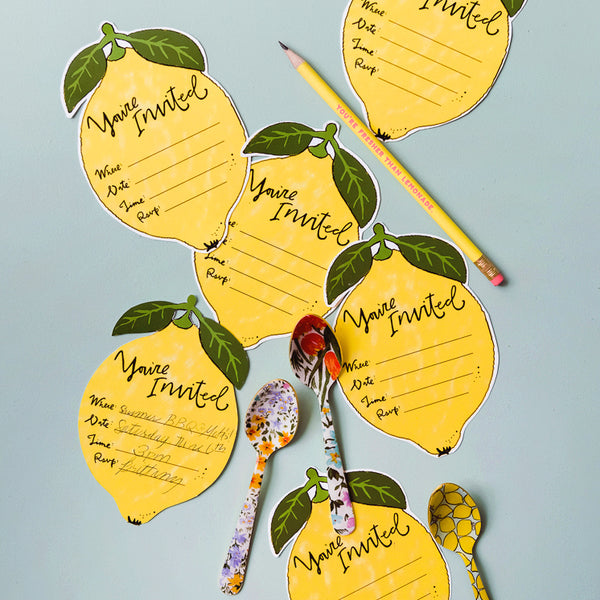 Lemon Invitation, PDF Printable