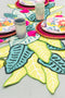 Tropical Paper Leaf Table Runner, PDF Template