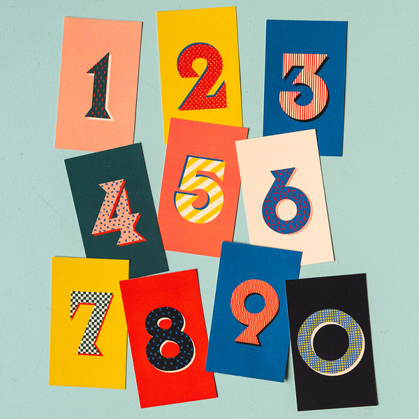 Birthday Cake Topper Numbers, PDF Printable