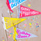 Birthday Pennant Phrases, SVG & PDF Template