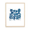 Field of Blue Flowers Papercut by Julie Marabelle