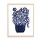 Blue Potted Flowers Papercut by Julie Marabelle