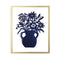 Blue Flowers in Vase Papercut by Julie Marabelle