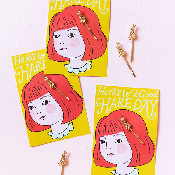 Golden Bunny Hairpin Kit