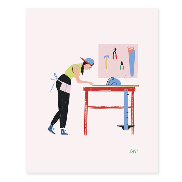 Carpenter Print by Libby VanderPloeg