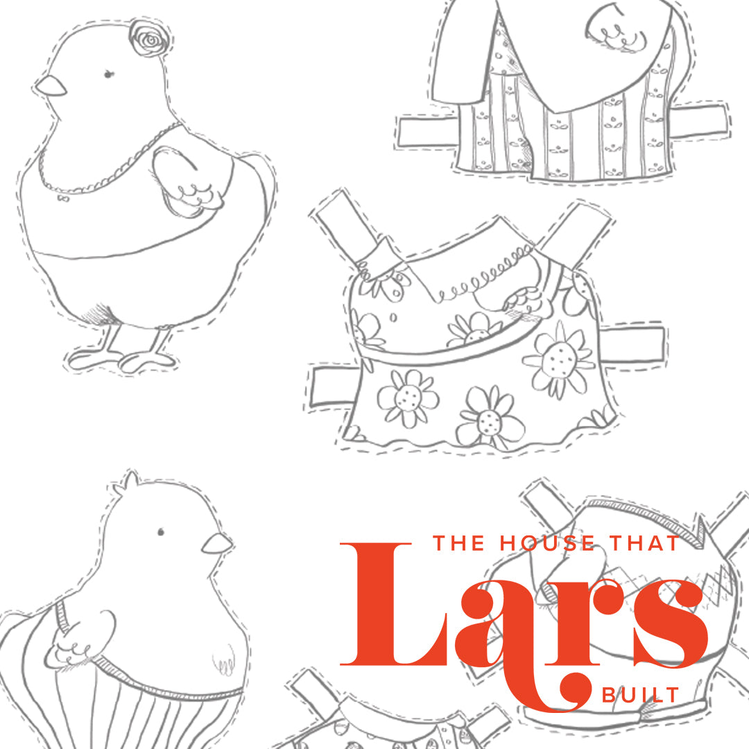 Easter Chick Paper Dolls Coloring Page, PDF Printable