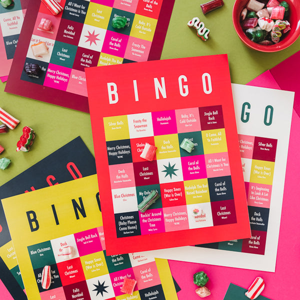 Christmas Song Bingo, PDF Printable
