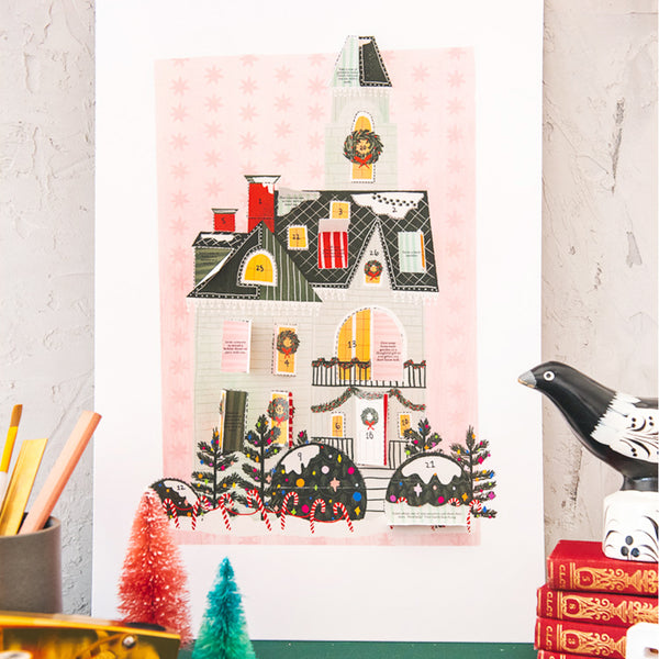 Christmas Home Advent Calendar, PDF Printable