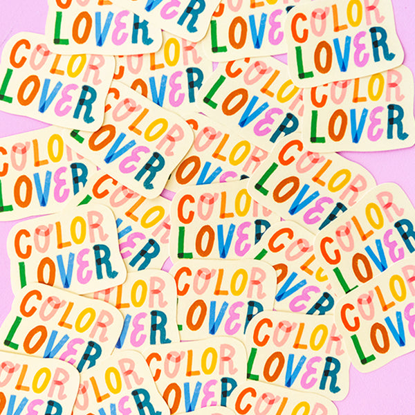 Color Lover Sticker