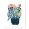 Colored Potted Flowers Papercut by Julie Marabelle