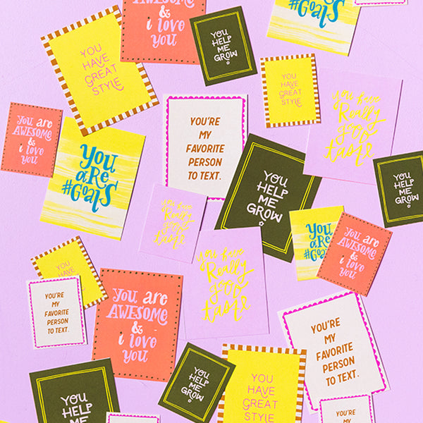 Compliment Cards, PDF Printable