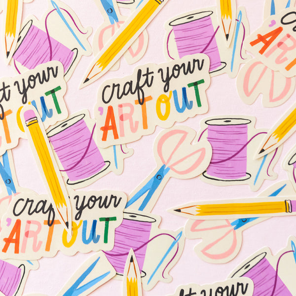 Craft Your 'Art Out Sticker Pack (Set of 4)